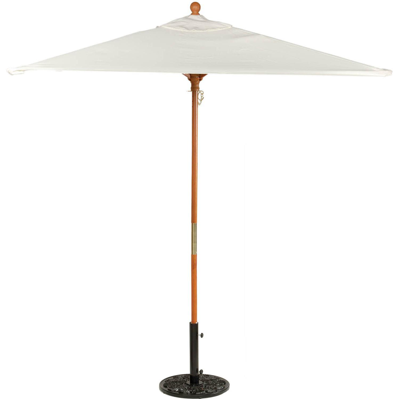 Oxford Garden 6 Ft. Square Wood Patio Market Umbrella - Natural
