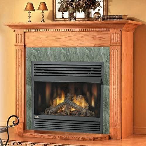 Ventless natural gas fireplace insert