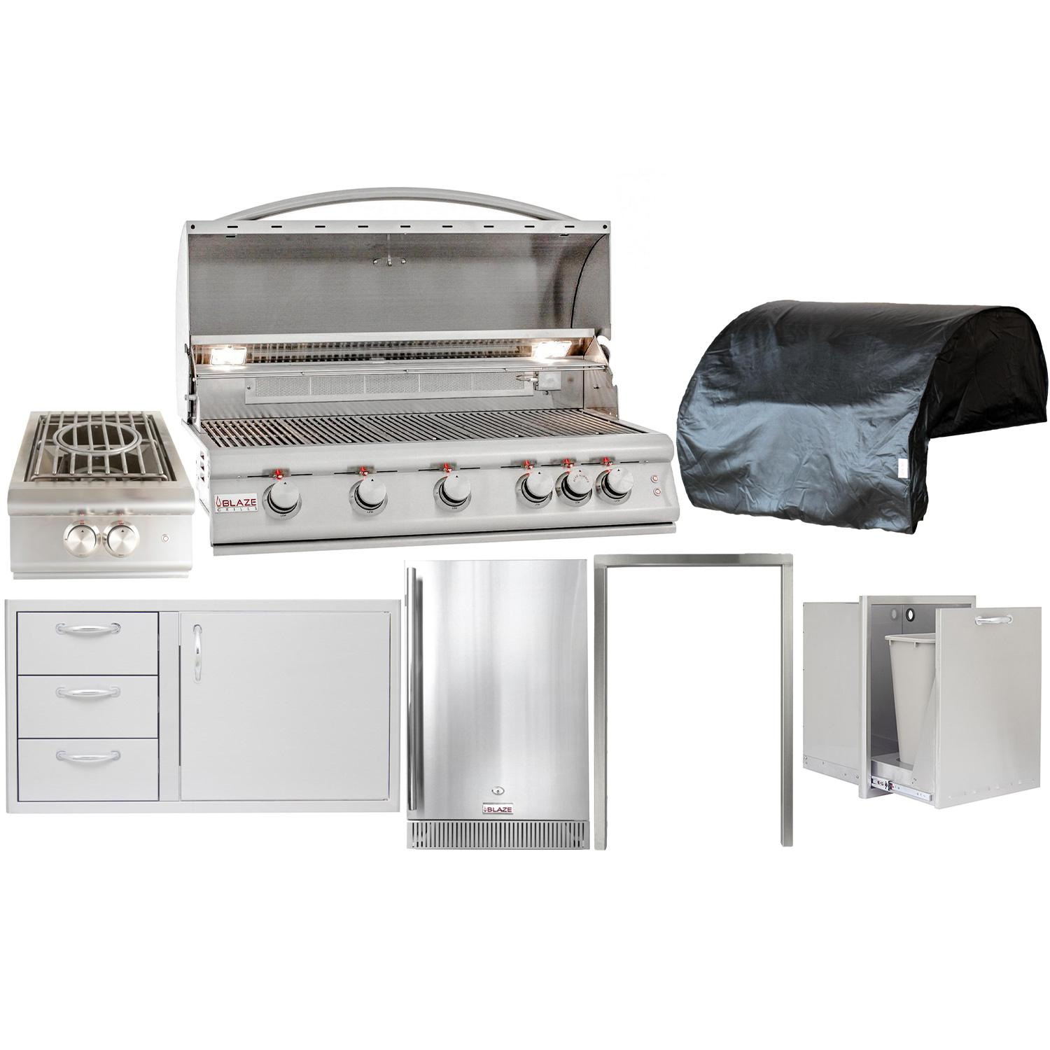 "Blaze Outdoor Products Lte 7-piece 40"" Propane Gas Outdoor Kitchen Package"