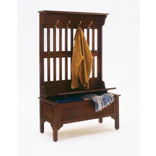 Home Styles Full Storage Bench - Cherry - 5648-49