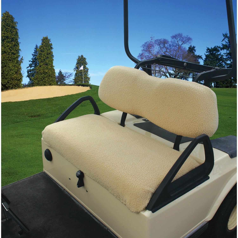 Classic Accessories Fleece Golf Car Seat Cover - Sand
