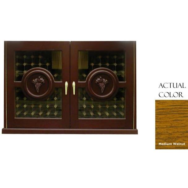 Vinotemp 224 Bottle Concord Series Wine Cellar Credenza - Glass Doors / Medium Walnut Cabinet - VINO-296CONCORD-MDWA