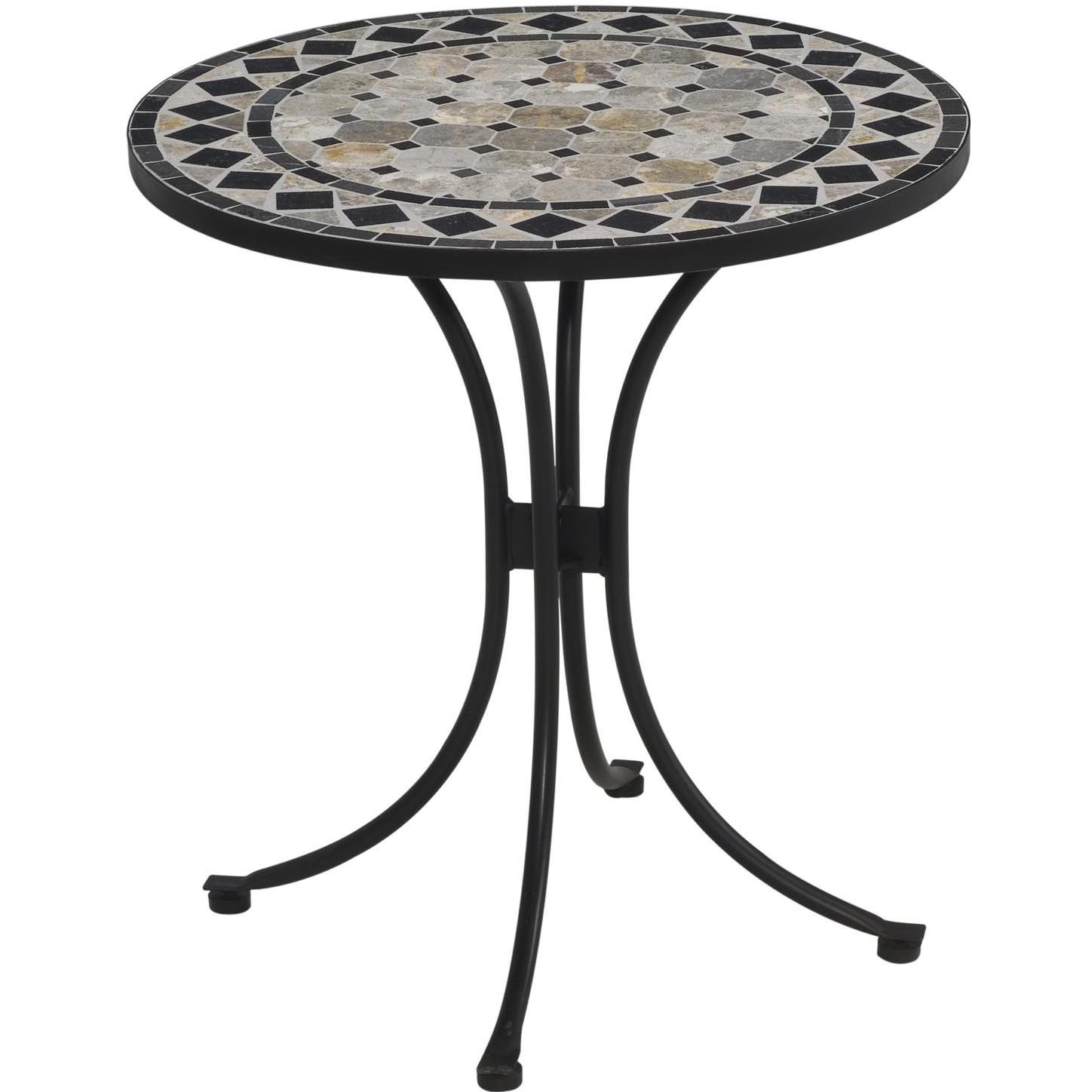 Home Styles Black Marble Mosaic Patio Bistro Table - Black at Sears.com