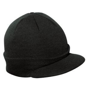 Otto Cap Short Visor Acrylic Knit Beanie - Black, Discount ID 90-647-003