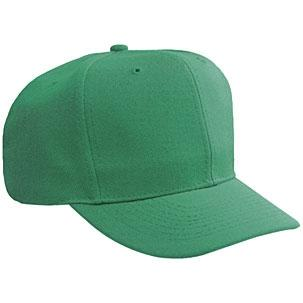 Otto Cap Wool Blend Solid Color Pro-Style Sport Cap - Kelly, Discount ID 27-210-005
