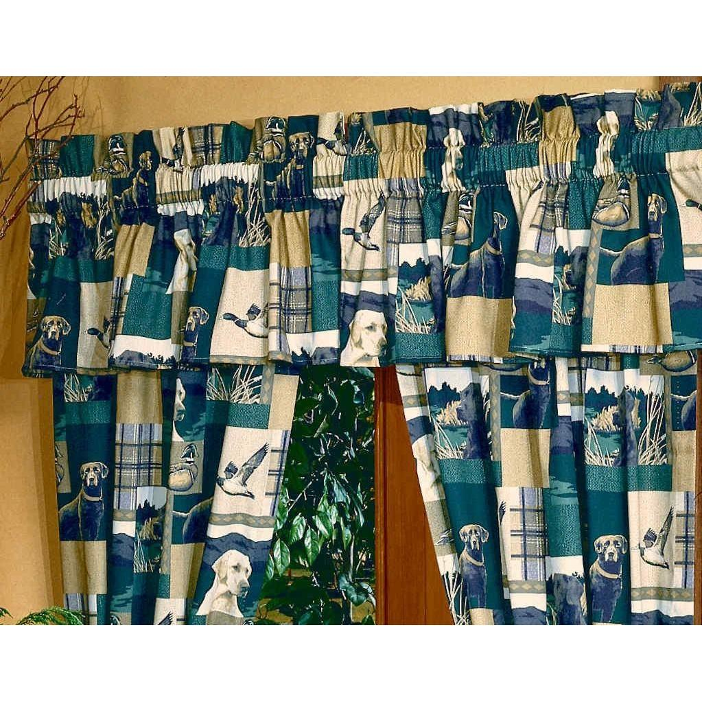 Blue Ridge Trading Window Curtain - Dogs And Ducks