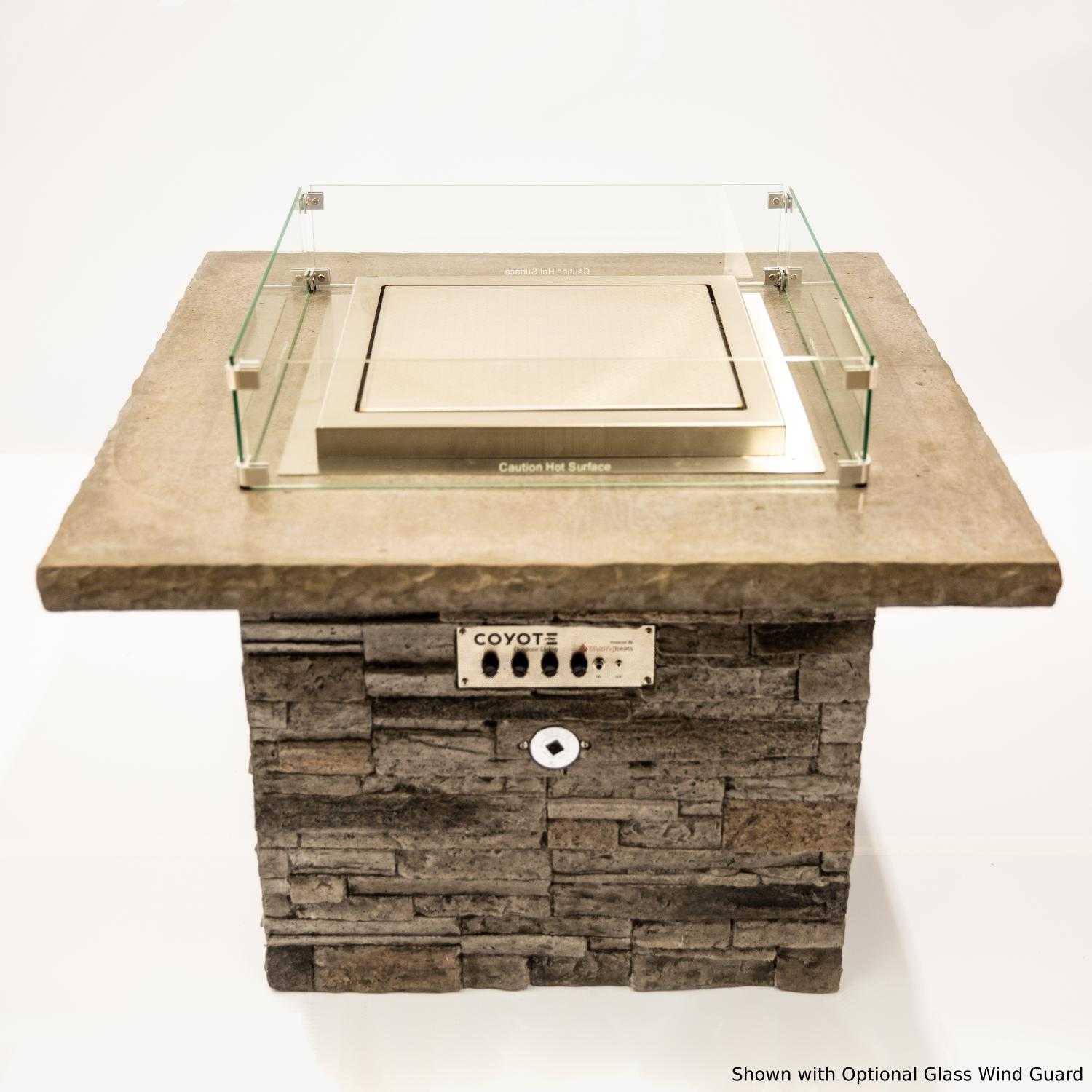 Blazing Beats Dancing Flame 38 Fire Table W/ Bluetooth Audio - Laguna Stacked Stone - Natural Gas - COY-LAGS-BB-NG