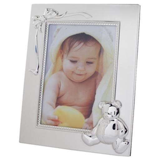 Elegant Baby Silver-Plated 4x6 Photo Frame - Bear