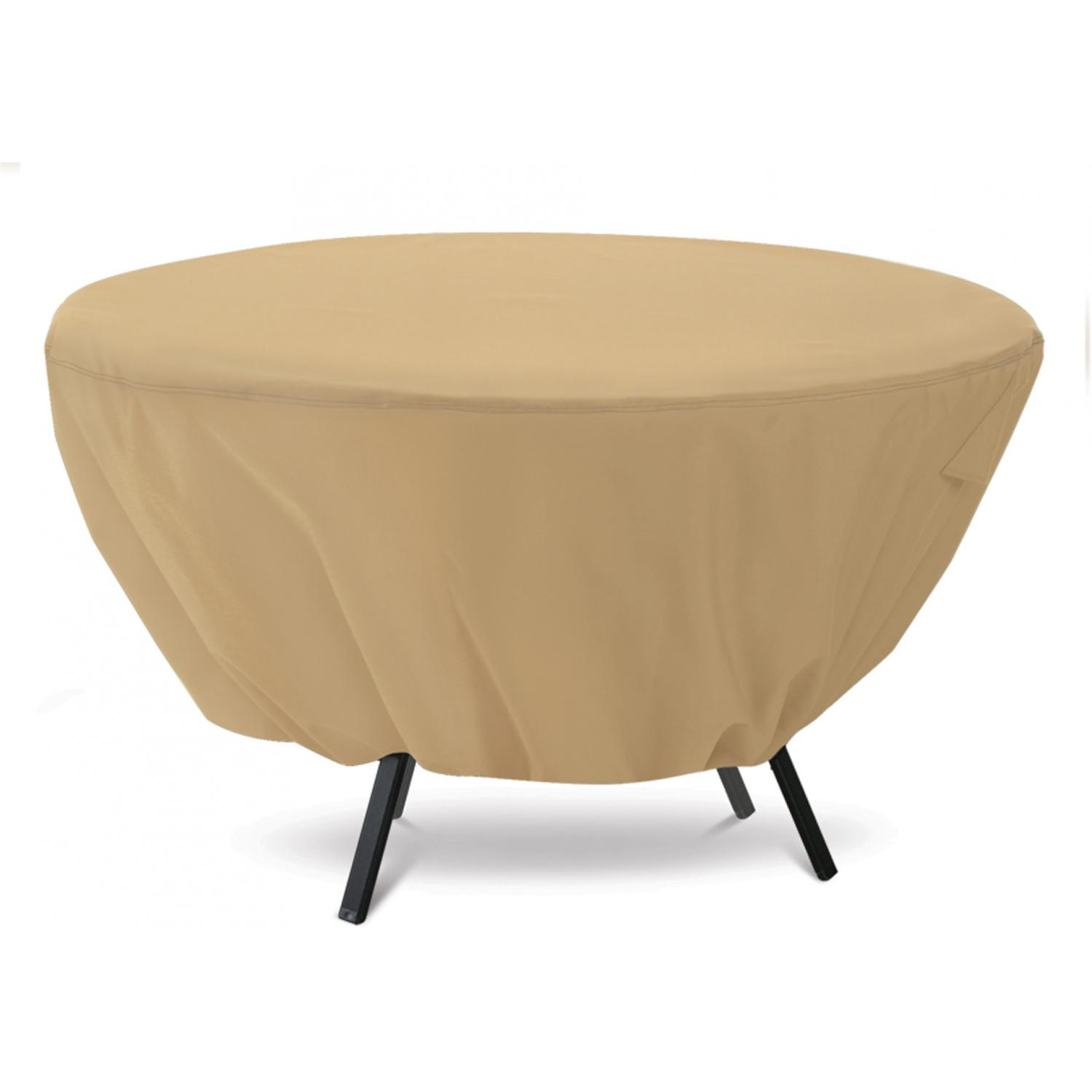 Classic Accessories Terrazzo Patio Table Cover - Sand - Std. Round (Table Only)