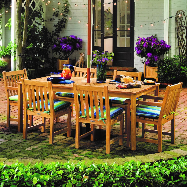 Oxford Garden Designs Hampton 7 Piece Natural Shorea Pati...