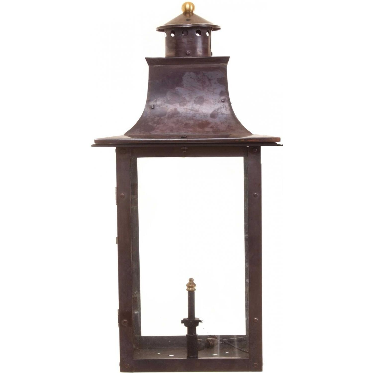Regency GL21 Faye Rue Small Natural Gas Light With Open Flame Burner And Manual Ignition For Post Mount