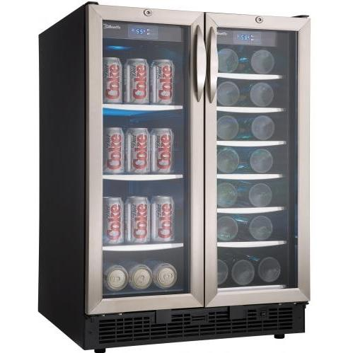 Danby DBC2760BLS 60 Can / 27 Bottle Silhouette Built In Dual Zone Beverage Center And Wine Cooler - Glass Door / Stainless Steel Trim