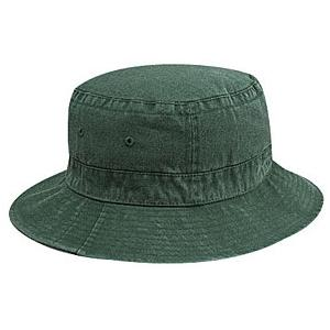 Otto Cap Washed Pigment Dyed Cotton Twill Bucket Hat S/M - Dk.Green