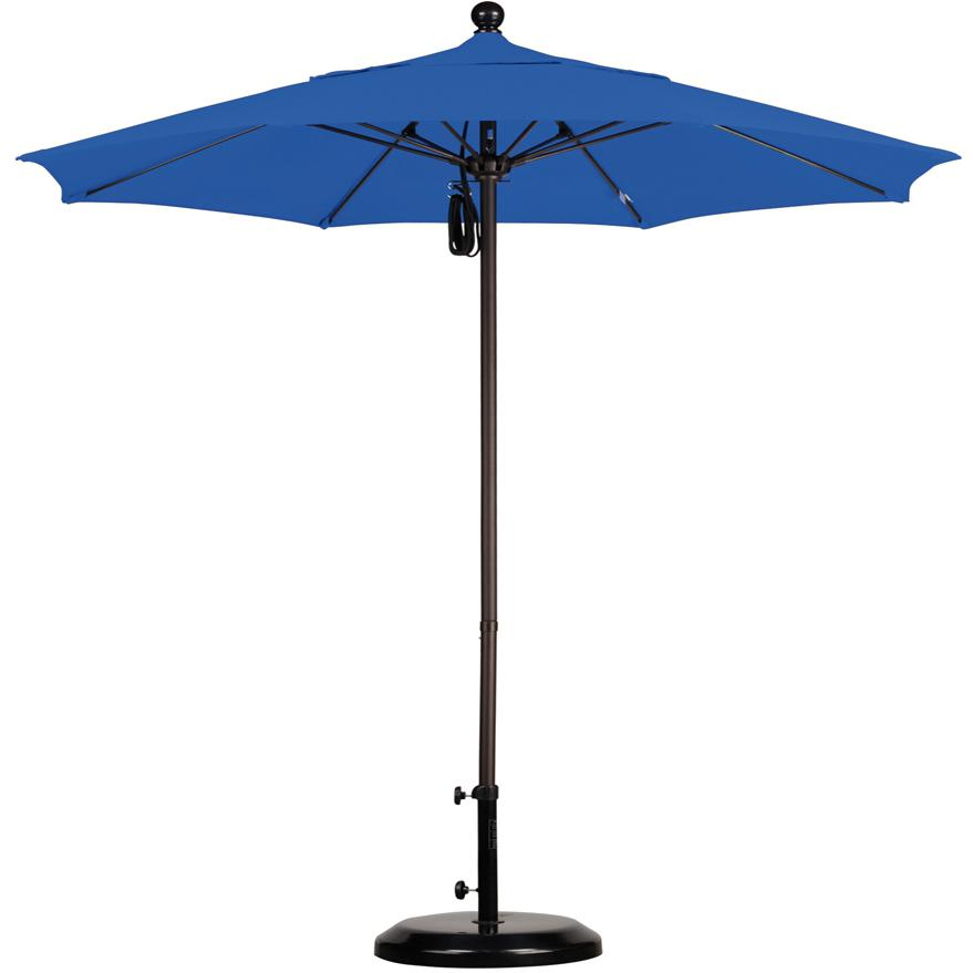 California Umbrella Octagonal 7.5 Ft Aluminum Patio Umbrella With Pulley Lift And Fiberglass Ribs 2909298