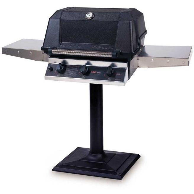 MHP Gas Grills W3G4DD Propane Gas Grill W/ SearMagic Grids On Bolt Down Post