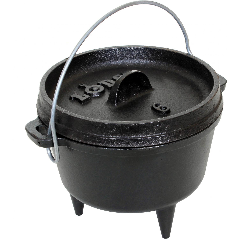 Lodge 1 quart seasoned cast iron camping dutch oven l6co3 for Cast iron dutch oven camping recipes