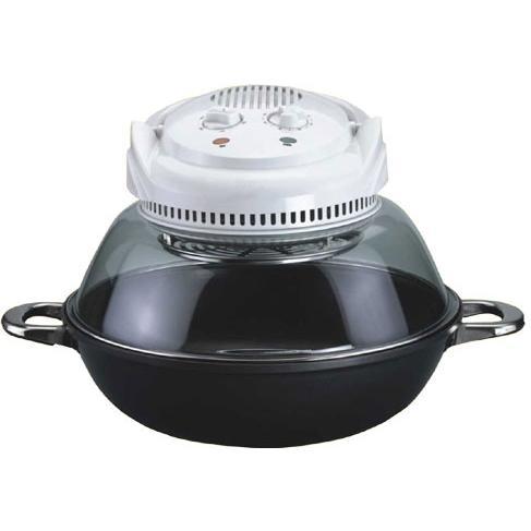 Sunpentown Convection Oven Black With Wok Base - Nano-Carbon Fiber Heating - SO-2007