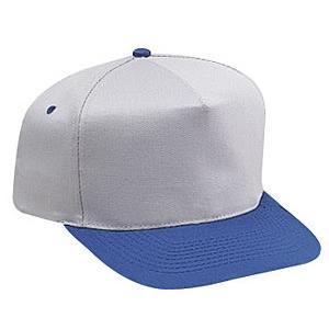 Otto Cap Cotton Twill Pro-Style Sport Cap - Royal / Gray, Discount ID 31-070-0114