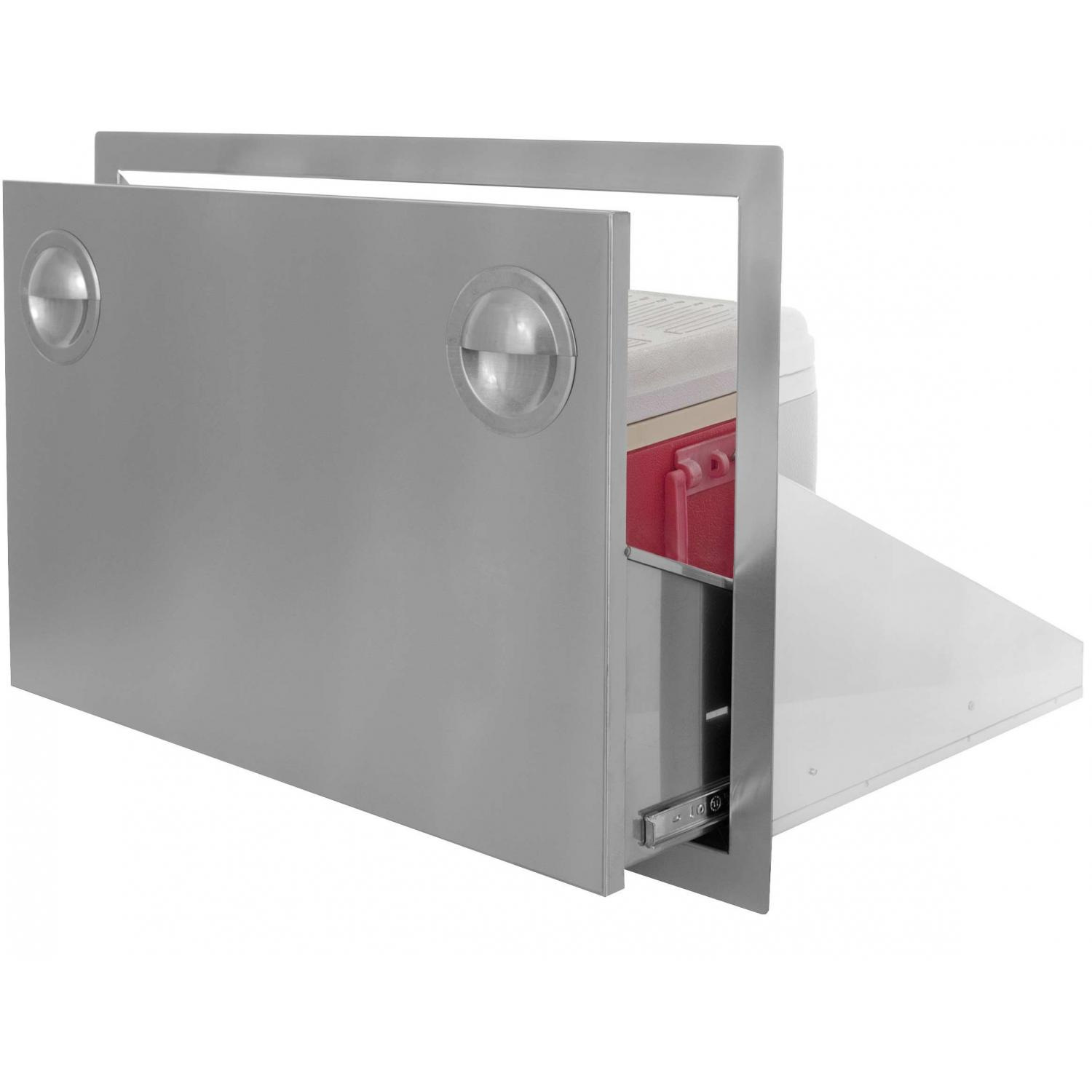 Bbqguys.com Portofino Series 30 Inch Stainless Steel Roll-out Ice Chest Storage Drawer