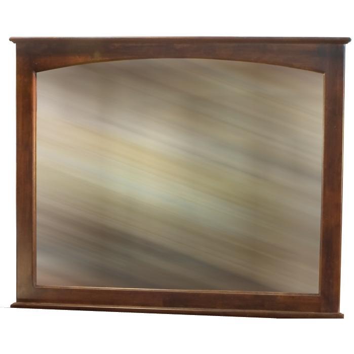 Atlantic Furniture 71004 Landscape Beveled Mirror - Antique Walnut