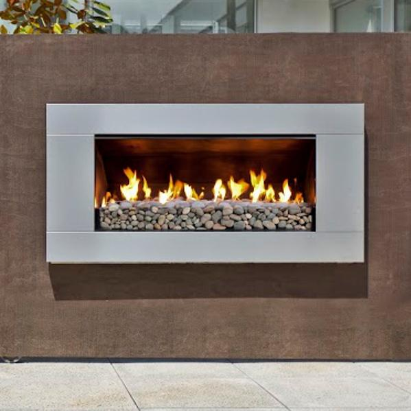 Price Escea St900 Indoor Propane Fireplace Velo Bronze With White Ceramic Stones