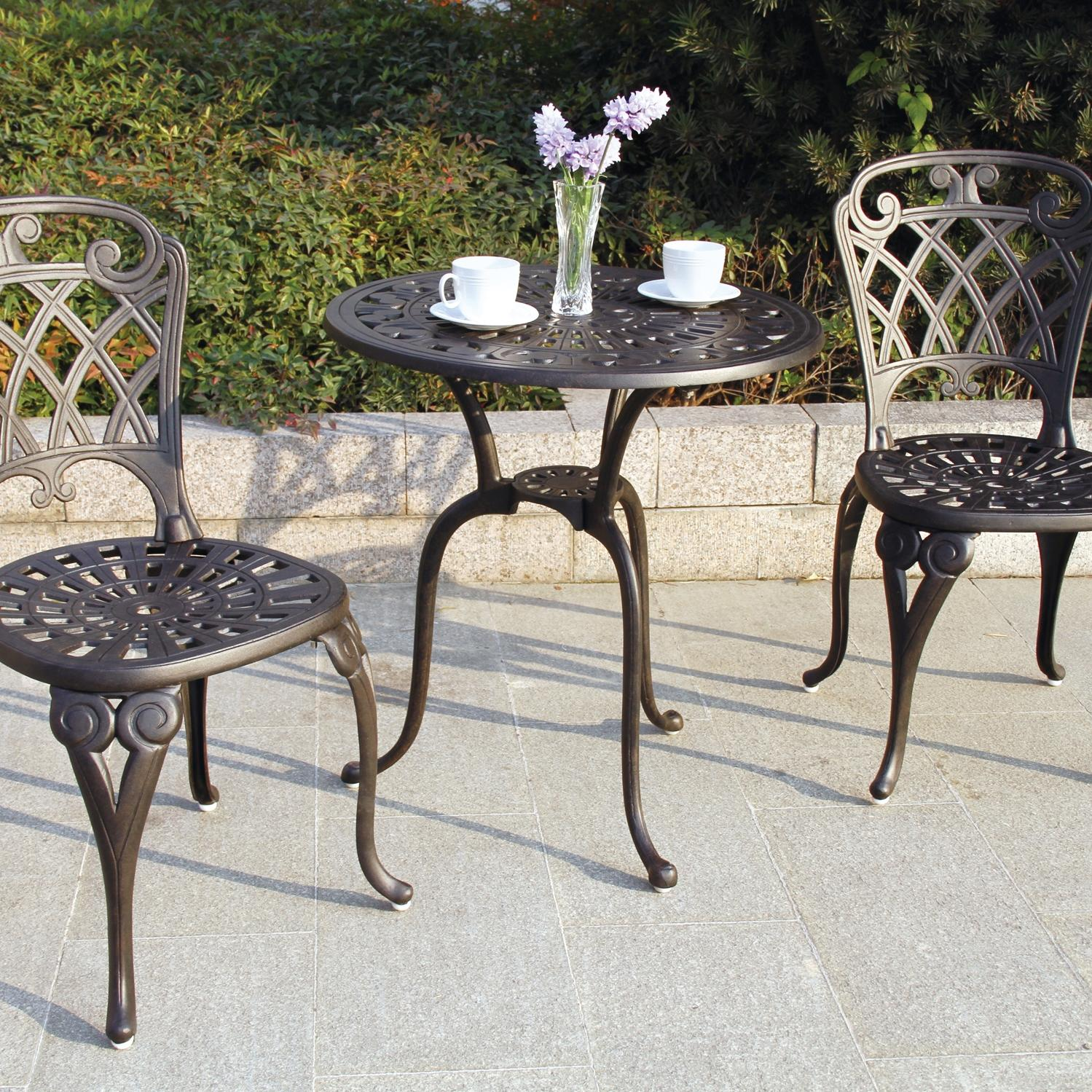 Darlee San Marino 2-person Cast Aluminum Patio Bistro Set - Antique Bronze at Sears.com