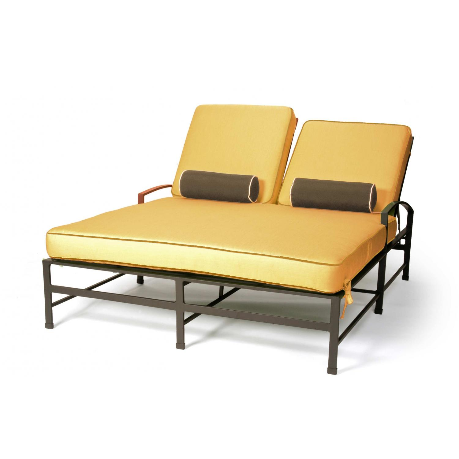 Caluco San Michele Aluminum Double Chaise Lounge