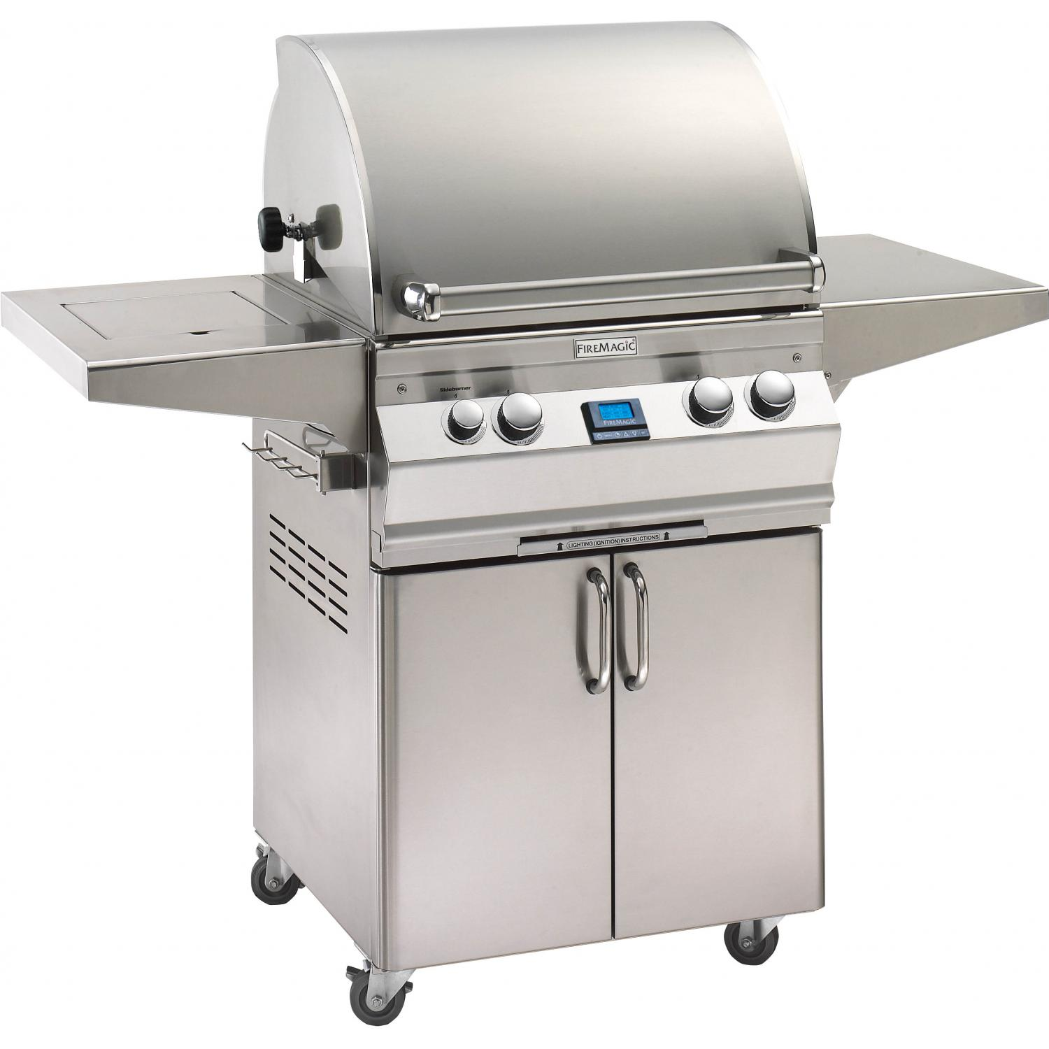 Fire Magic Aurora A530s All Infrared Natural Gas Grill With Single Side Burner And Rotisserie On Cart - A530s-6A1N-62 2893942