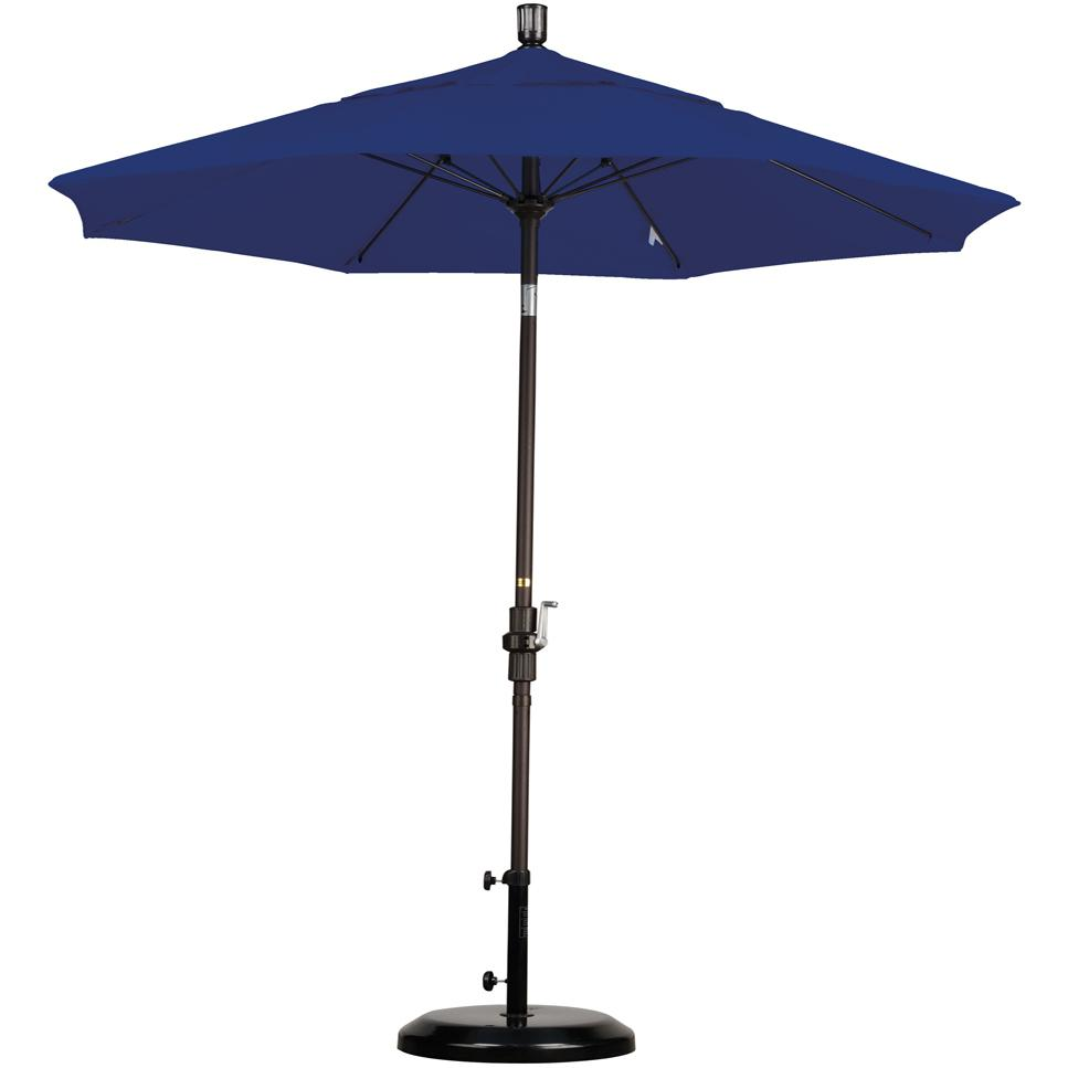 California Umbrella Octagonal 7.5 Ft Aluminum Patio Collar Tilt Umbrella With Crank Lift And Fiberglass Ribs 2909296