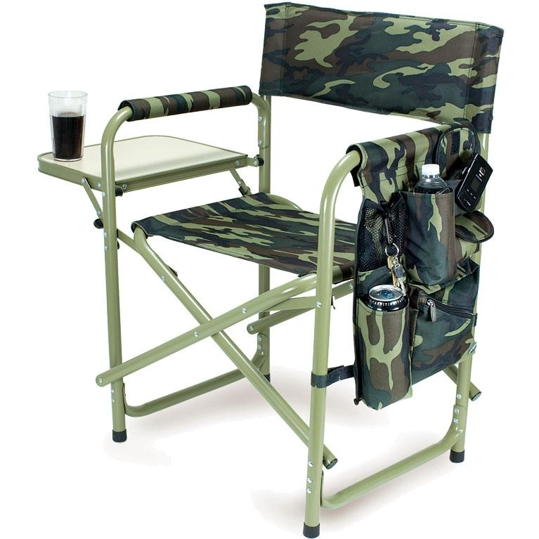 Picnic Time Portable Folding Sports Chair With Side Table - Camouflage at Sears.com