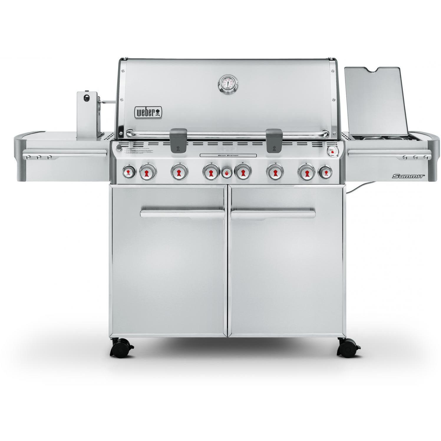 Weber Summit S-670 Freestanding Propane Gas Grill With Ro...