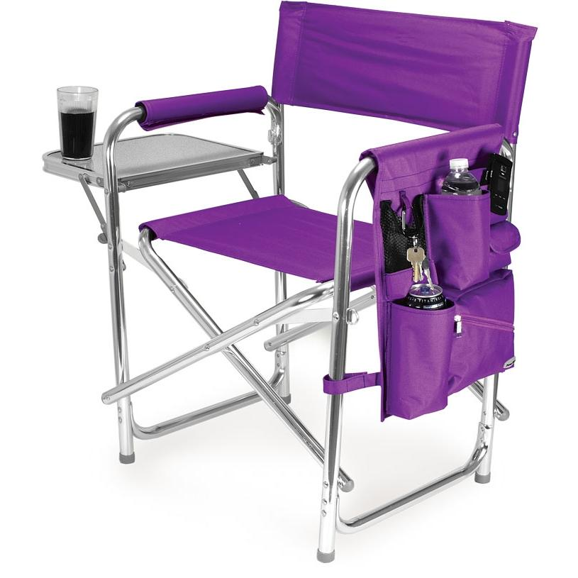 Picnic Time Portable Folding Sports Chair With Side Table - Purple at Sears.com