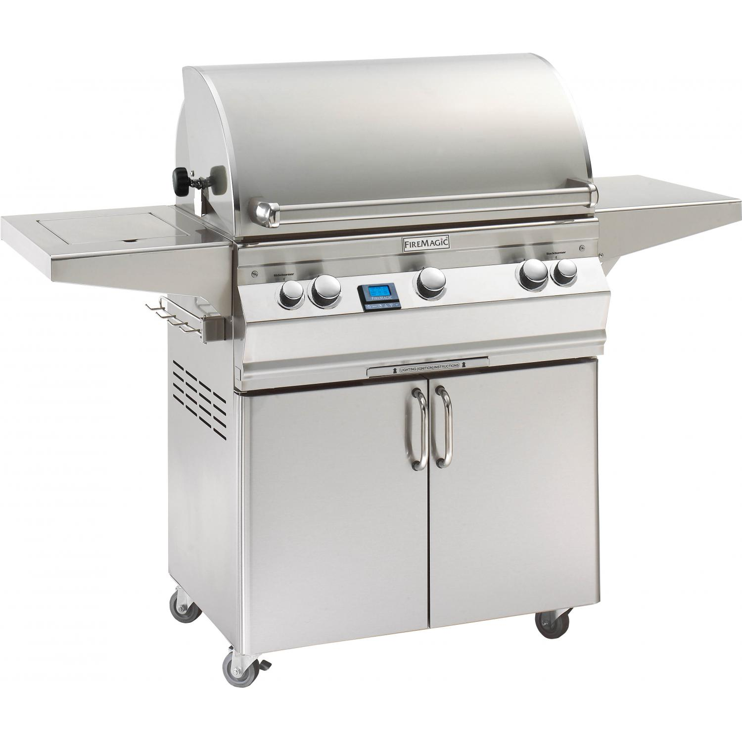 Fire Magic Aurora A540s All Infrared Natural Gas Grill With Single Side Burner And Rotisserie On Cart - A540s-6A1N-62 2893988