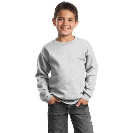 Port & Company Youth Crewneck Sweatshirt Large - Ash