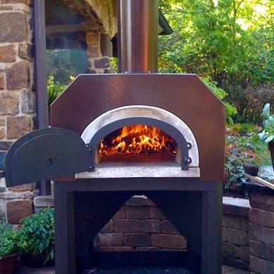 Chicago Brick Oven Cbo-500 Outdoor Wood Fired Pizza Oven On Cart - Copper