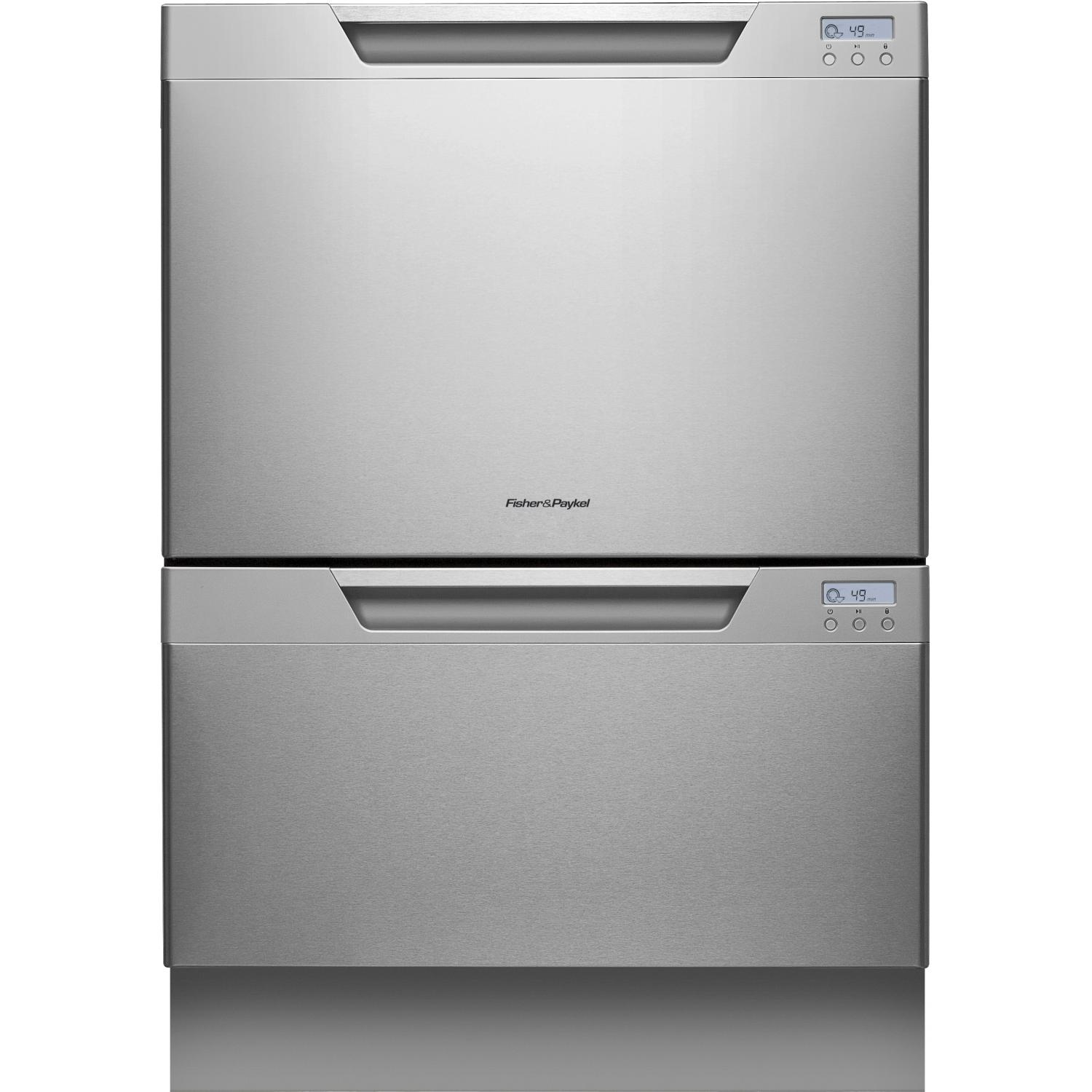 Fisher Paykel DD24DCHTX7 Double DishDrawer Tall With Water Softener - Stainless Steel