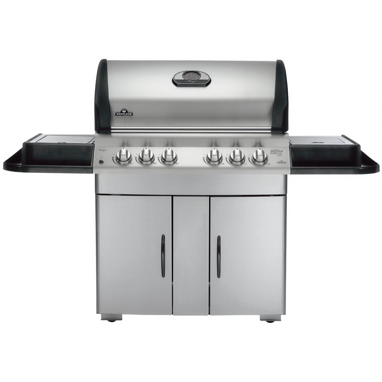 Mirage 605 Propane Gas Grill With Rear Infrared Burner, Sear Burner