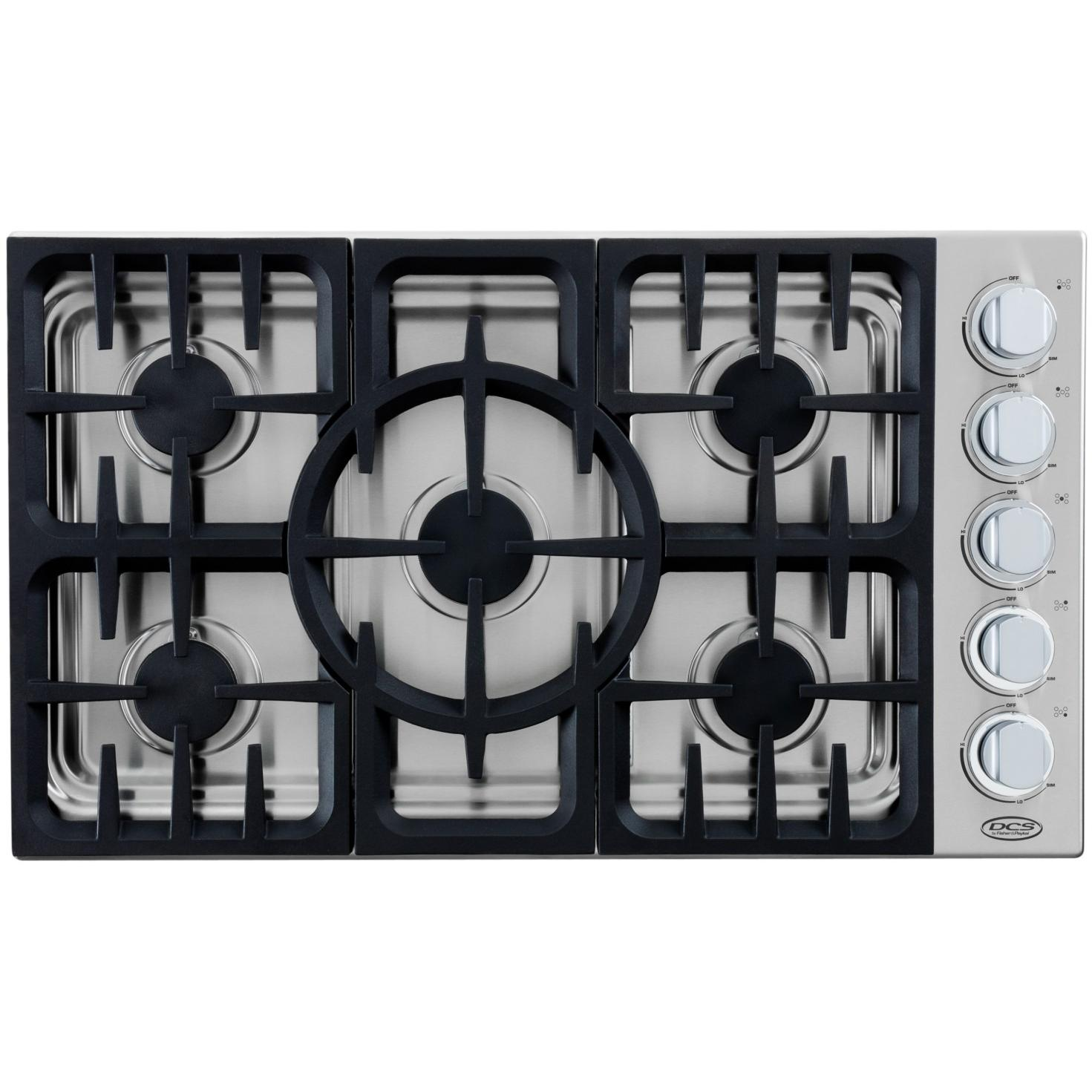 DCS CDU365N 36-Inch Natural Gas Drop-in Cooktop By Fisher Paykel