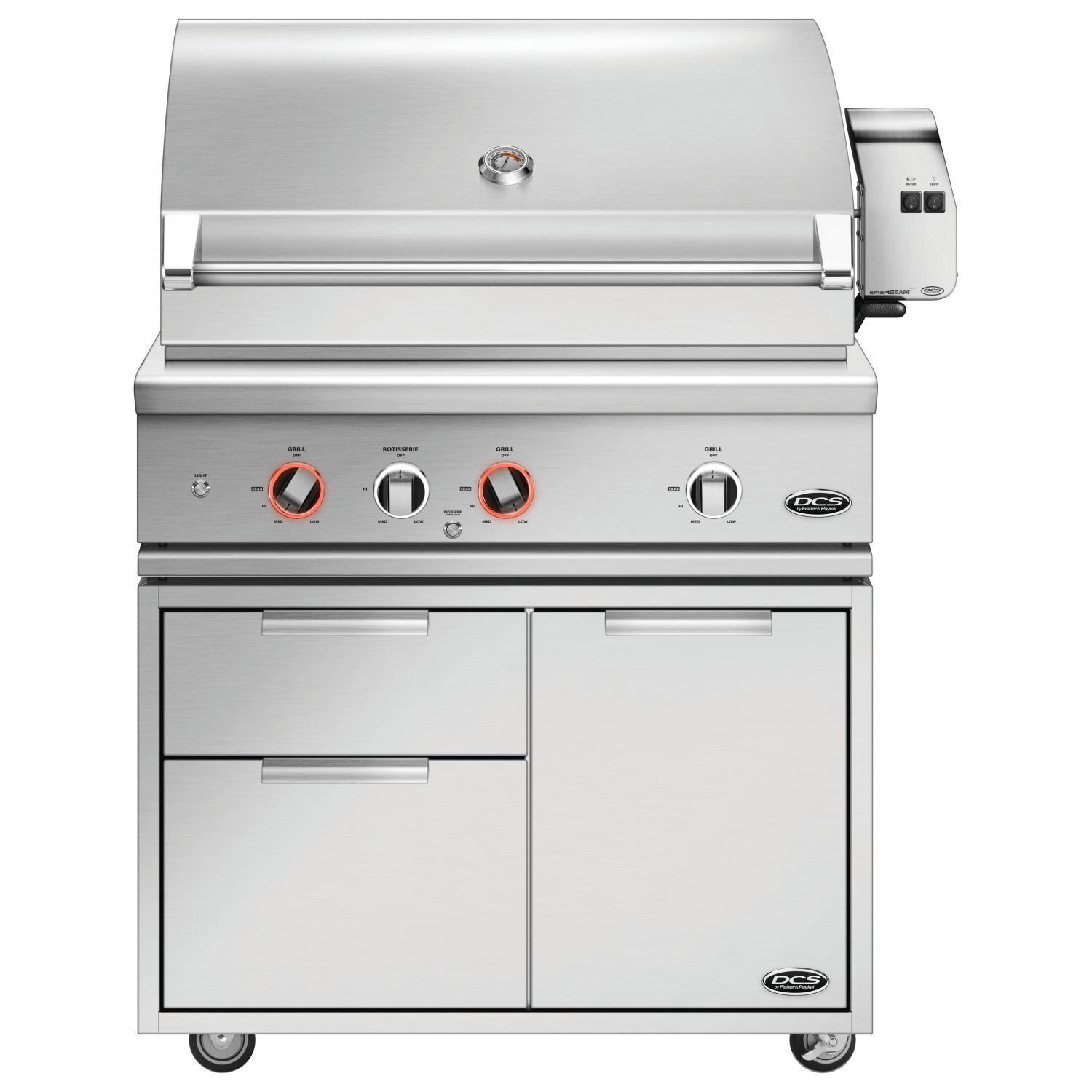 DCS Series 9 Evolution 36 Natural Gas Grill With Rotisserie - BE1-36RC-N + CAD1-36E