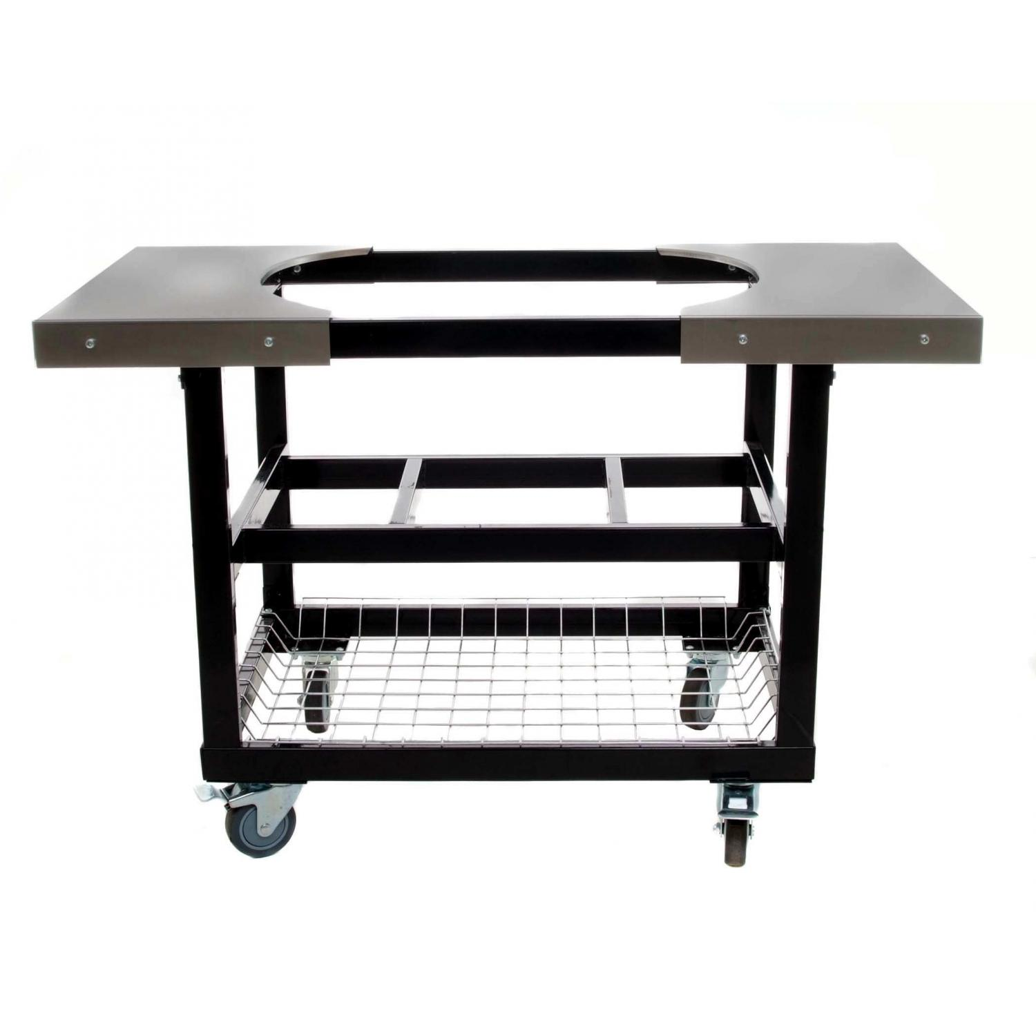 Primo Cart With Basket & Side Tables With Casters For Extra Large Oval Grill
