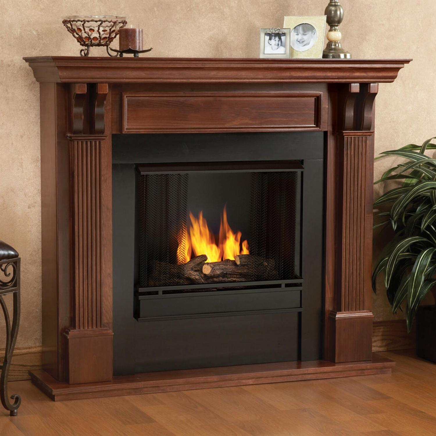 Real Flame Ashley 48-Inch Gel Fireplace - Mahogany
