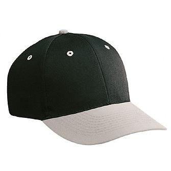 Otto Cap Cotton Twill Low Profile Pro-Style Cap - Gray / Black, Discount ID 19-062-1403