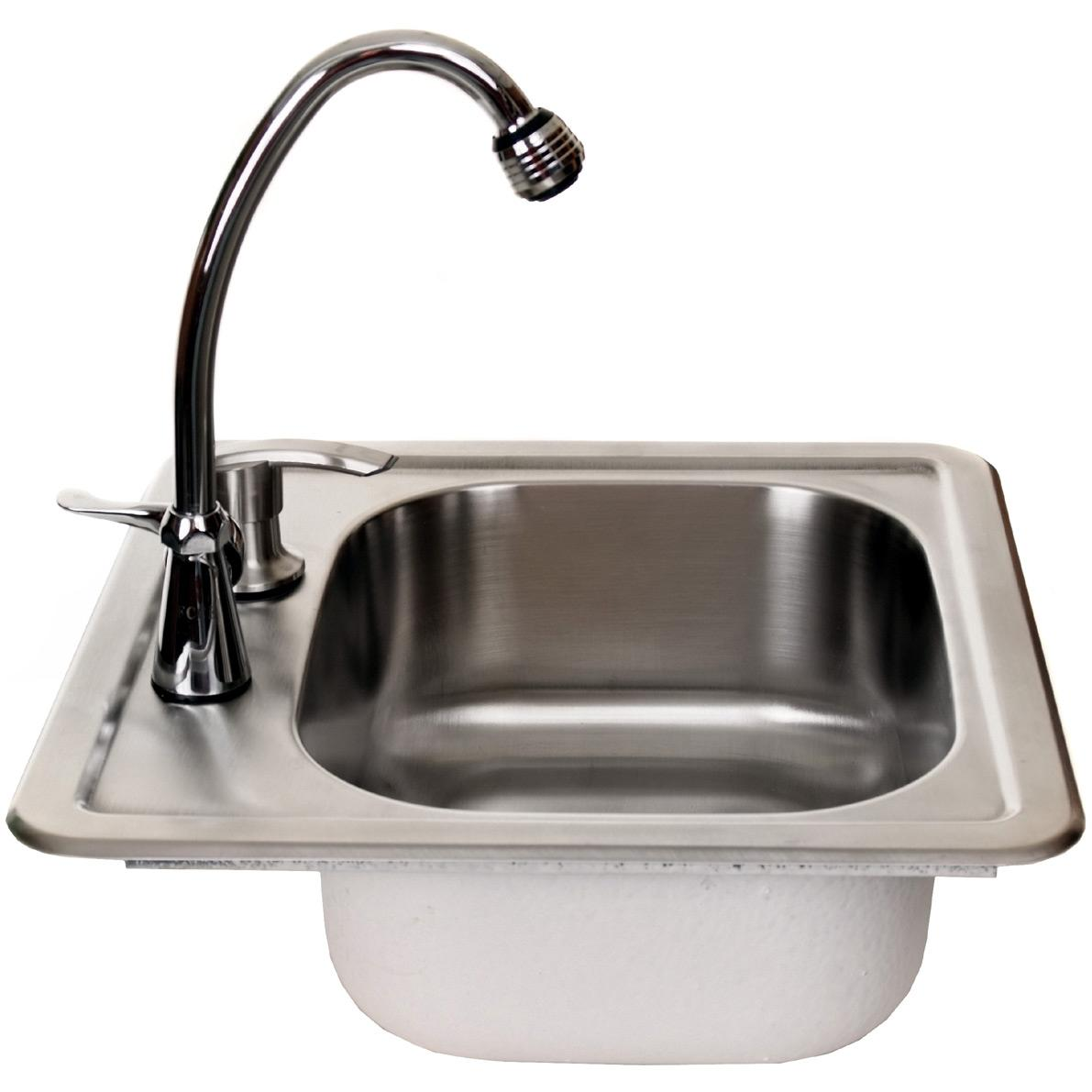 Cal Flame Stainless Steel Sink With Faucet And Soap Dispenser