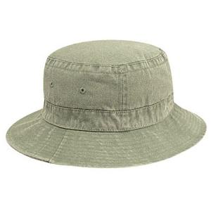 Otto Cap Youth Washed Pigment Dyed Cotton Twill Bucket Hat - Khaki