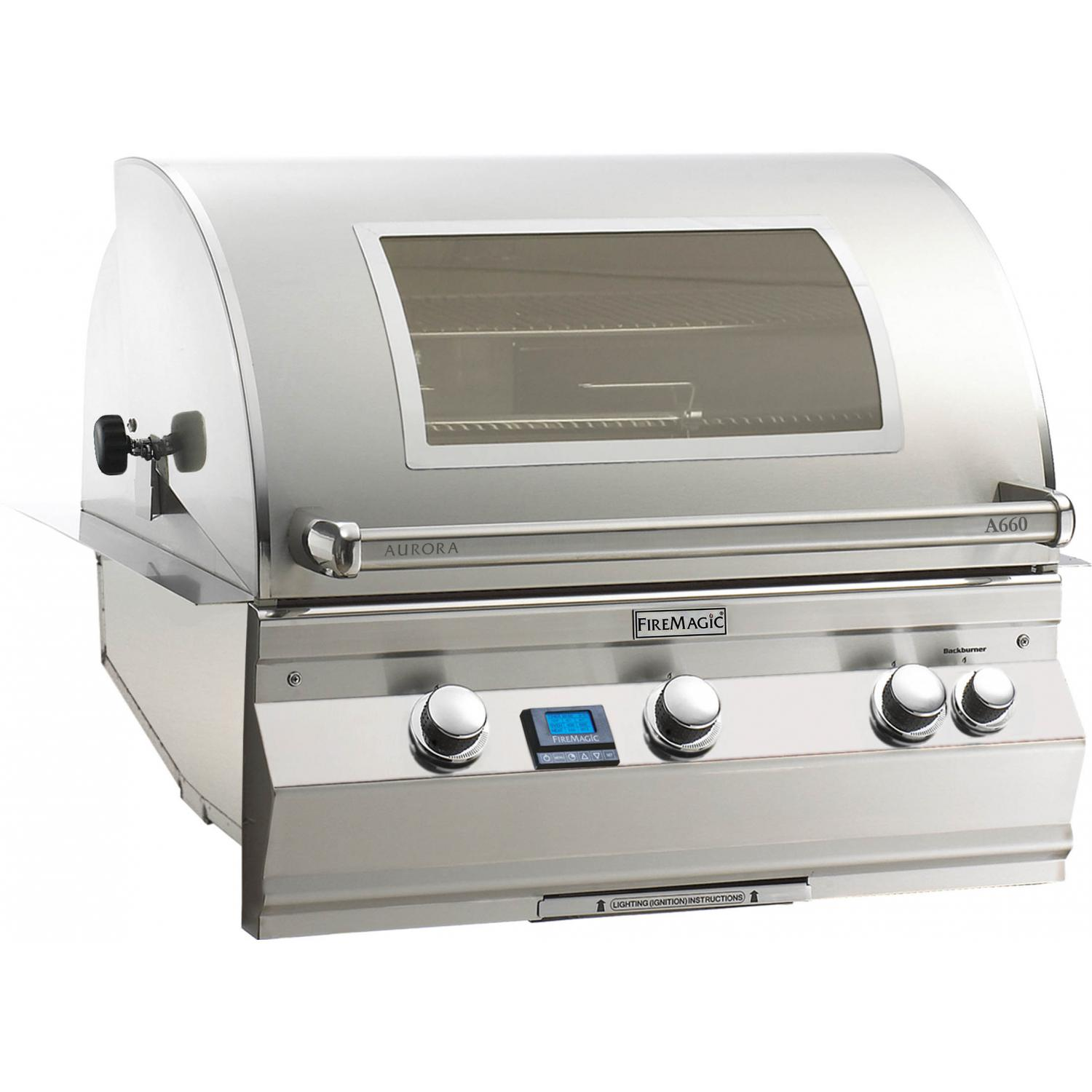 Fire Magic Aurora A660i Built-In Natural Gas Grill With Rotisserie And Magic View Window - A660i-6E1N-W 2894034