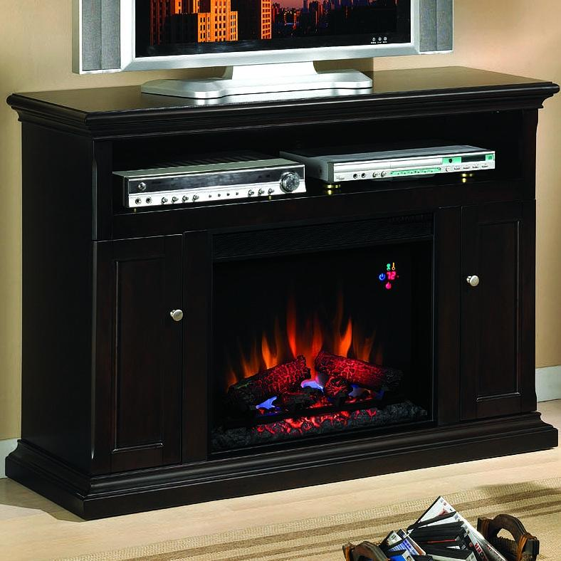 Cannes 47-inch Electric Fireplace Media Console - Espresso - 23mm378