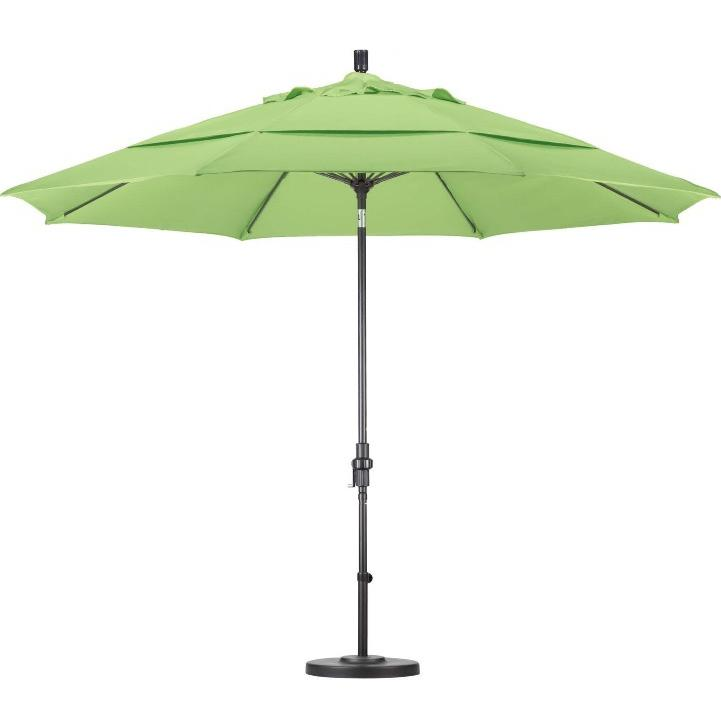 California Umbrella Octagonal 11 Ft Aluminum Patio Collar Tilt Umbrella With Crank Lift And Fiberglass Ribs 2909084