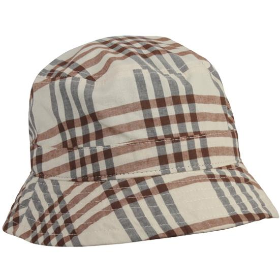 Outdoor Cap Plaid Bucket Hat - Khaki Plaid