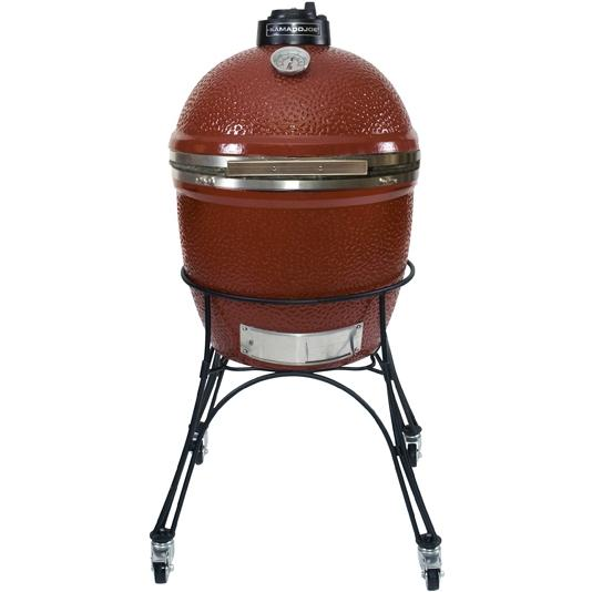Kamado Joe BigJoe Ceramic Grill With Stainless Bands On Cart - Red, Discount ID BJ24NRS BJ-MC24
