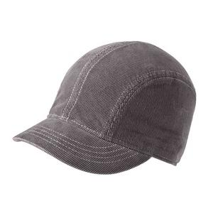 New Era Ladies Corduroy Short Bill Cap - Grey/White